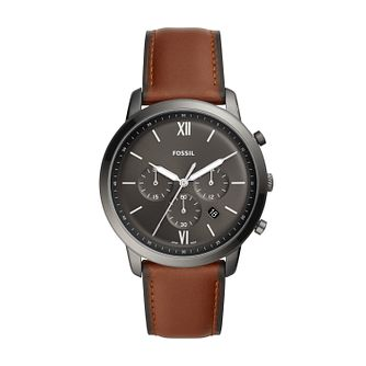 Fossil Neutra Men's Amber Leather Strap Watch - Product number 3179672