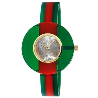 Gucci Vintage Web Plexiglass Rubber Bangle Watch - Product number 3181642
