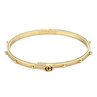Gucci Running G 18ct Yellow Gold Bangle - Product number 3182835