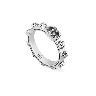 Gucci Running G 18ct White Gold 0.35ct Diamond Ring - L - Product number 3182843