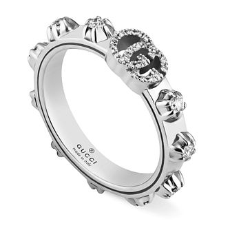 Gucci Running G 18ct White Gold 0.35ct Diamond Ring - N - Product number 3182886