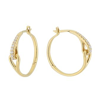 Love & Be Loved 9ct Yellow Gold 0.25ct Diamond Hoop Earrings - Product number 3183971