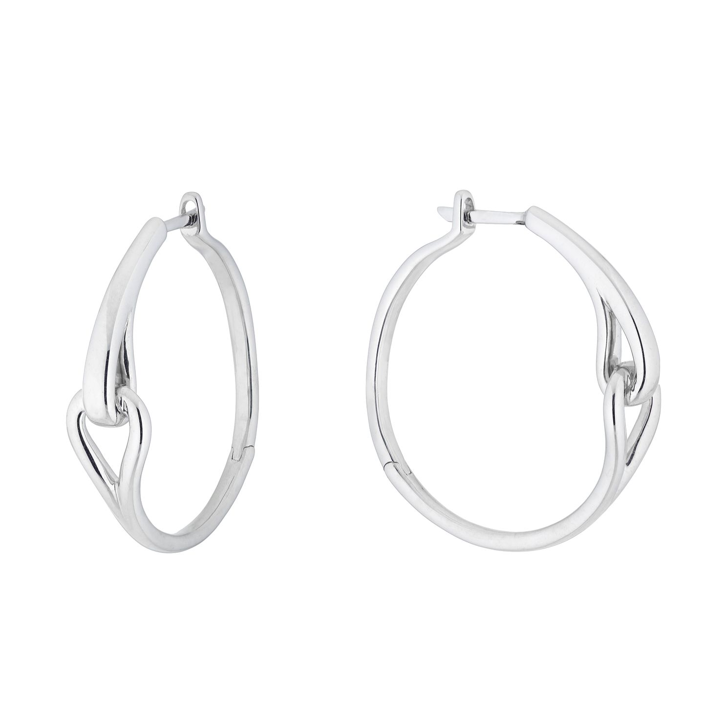 Love & Be Loved Sterling Silver Hoop Earrings - Product number 3183998