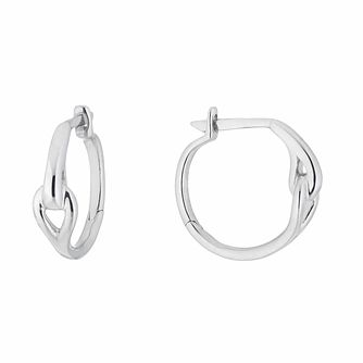 Love & Be Loved Sterling Silver Hoop Earrings - Product number 3184005