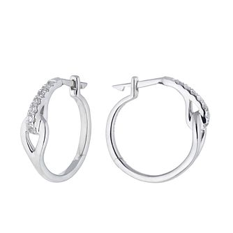 Love & Be Loved Sterling Silver 0.15ct Diamond Hoop Earrings - Product number 3184013