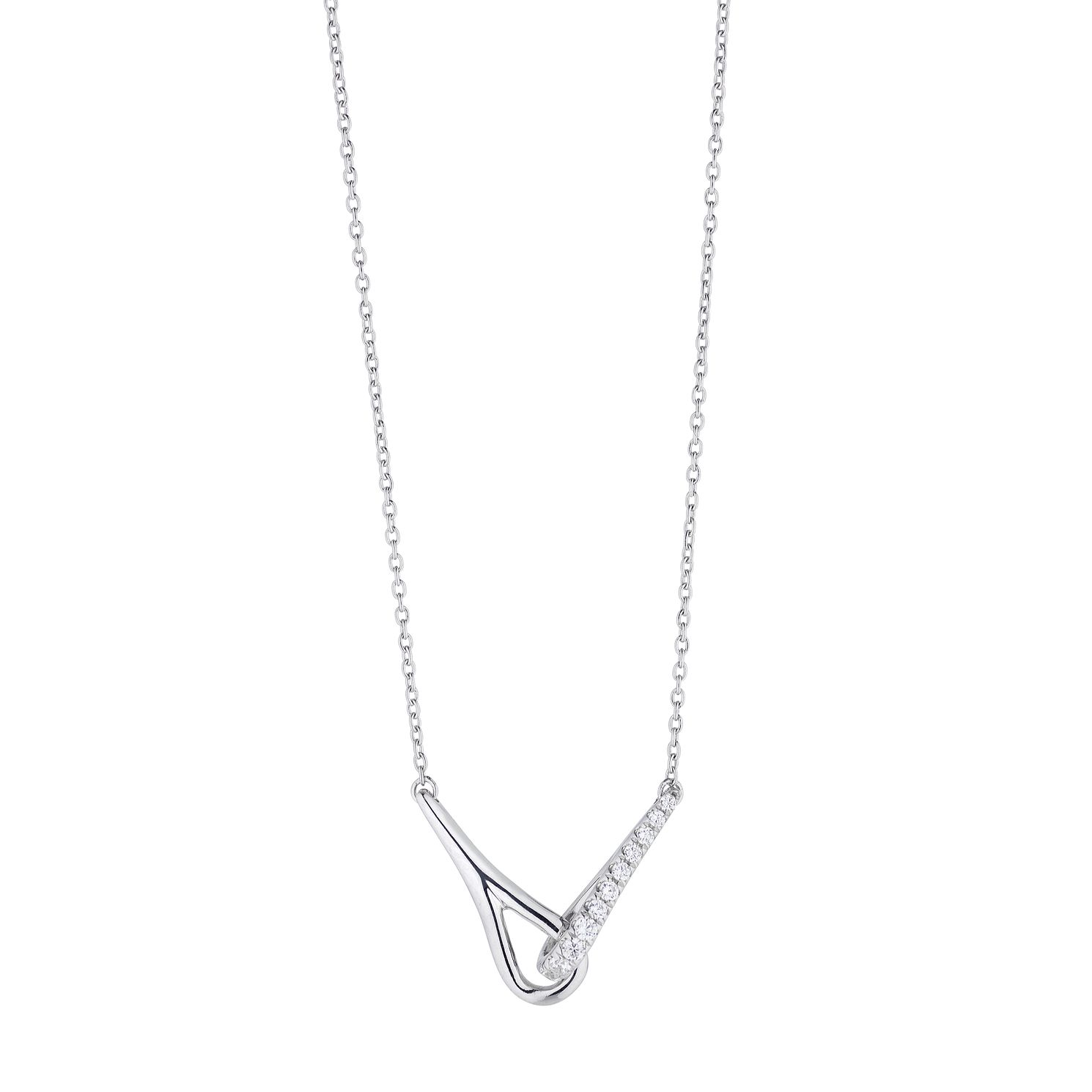 Love & Be Loved Sterling Silver 1/10ct Diamond Necklace - Product number 3184021