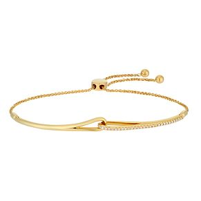 Love & Be Loved 9ct Yellow Gold 1/10ct Diamond Bracelet - Product number 3184080