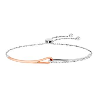 Love & Be Loved Two-Tone 1/4ct Diamond Bracelet - Product number 3184110