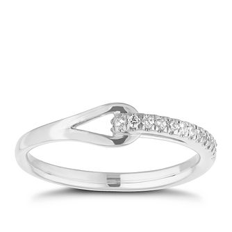 Love & Be Loved Sterling Silver 1/10ct Diamond Ring - Product number 3185532