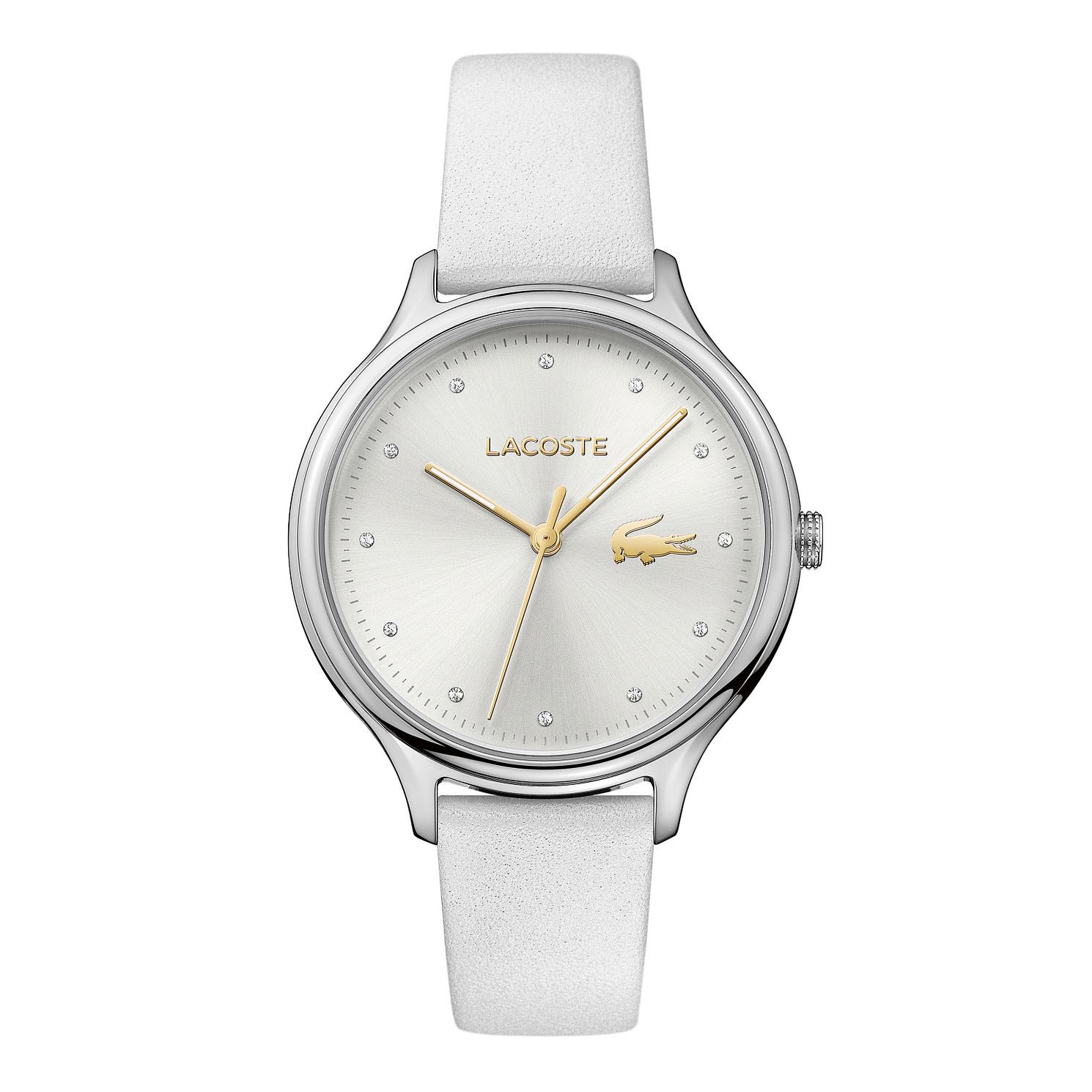 Lacoste Ladies' White Leather Strap Watch - Product number 3186512