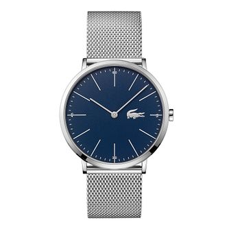 Lacoste Men's Silver Mesh Strap Watch - Product number 3186539