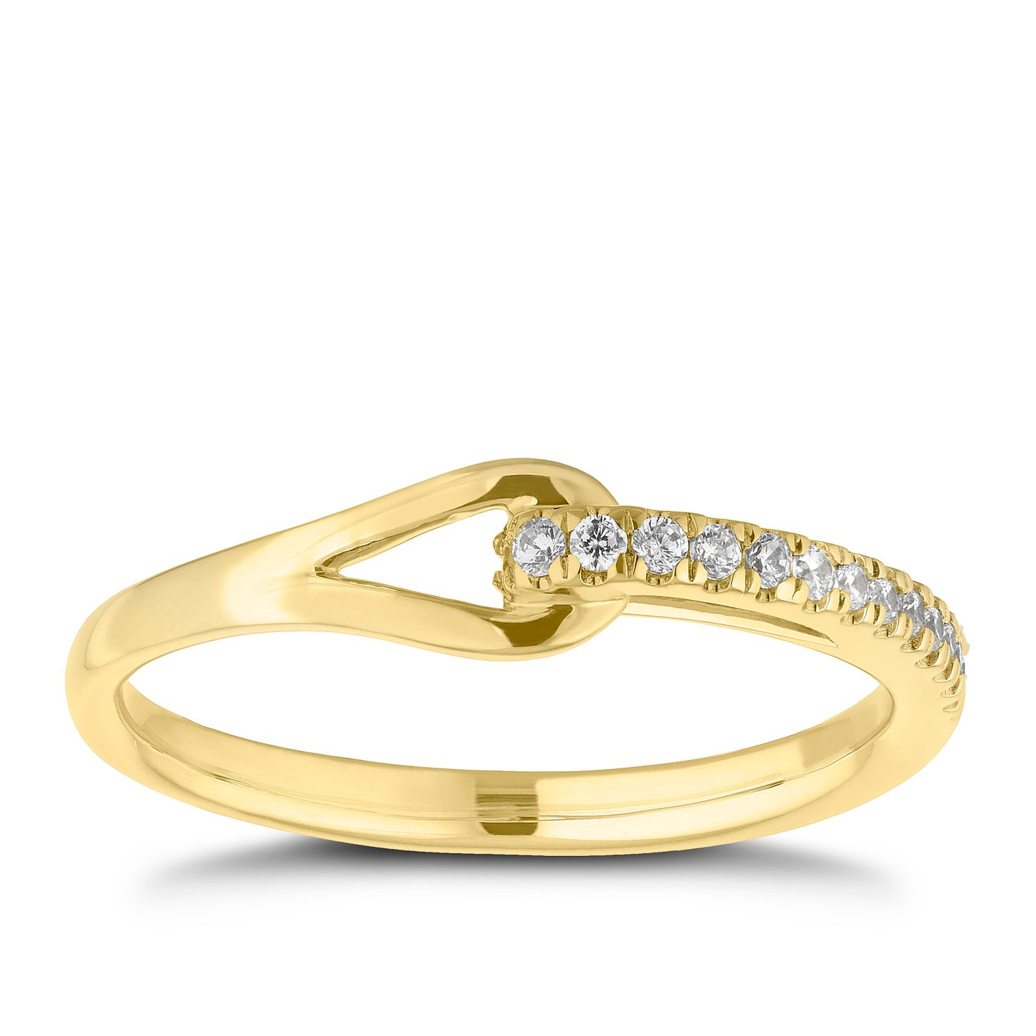 Love & Be Loved 9ct Yellow Gold 1/10ct Diamond Ring - Product number 3187926
