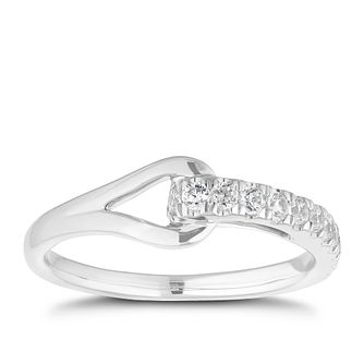 Love & Be Loved Sterling Silver 1/4ct Diamond Ring - Product number 3188639