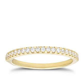 9ct Yellow Gold 1/5ct Diamond Band - Product number 3194868