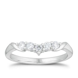 9ct White Gold 1/4ct Diamond 5-Stone Set Band - Product number 3196828