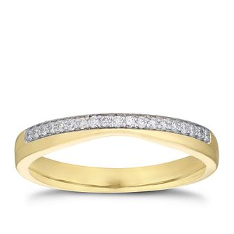 9ct Yellow Gold Diamond Shaped Band - Product number 3206327