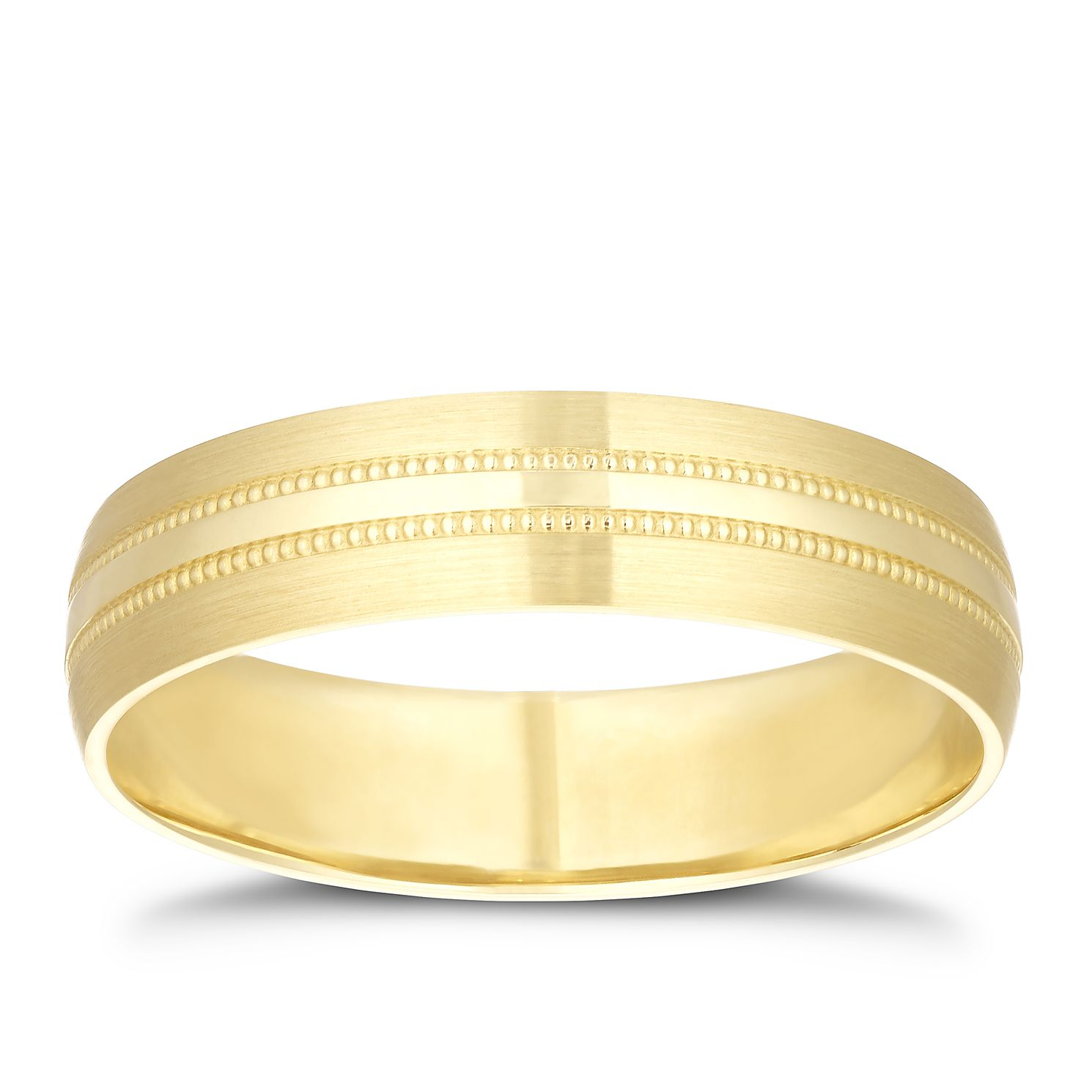 9ct Yellow Gold Milgrain Centre Ring - Product number 3214486