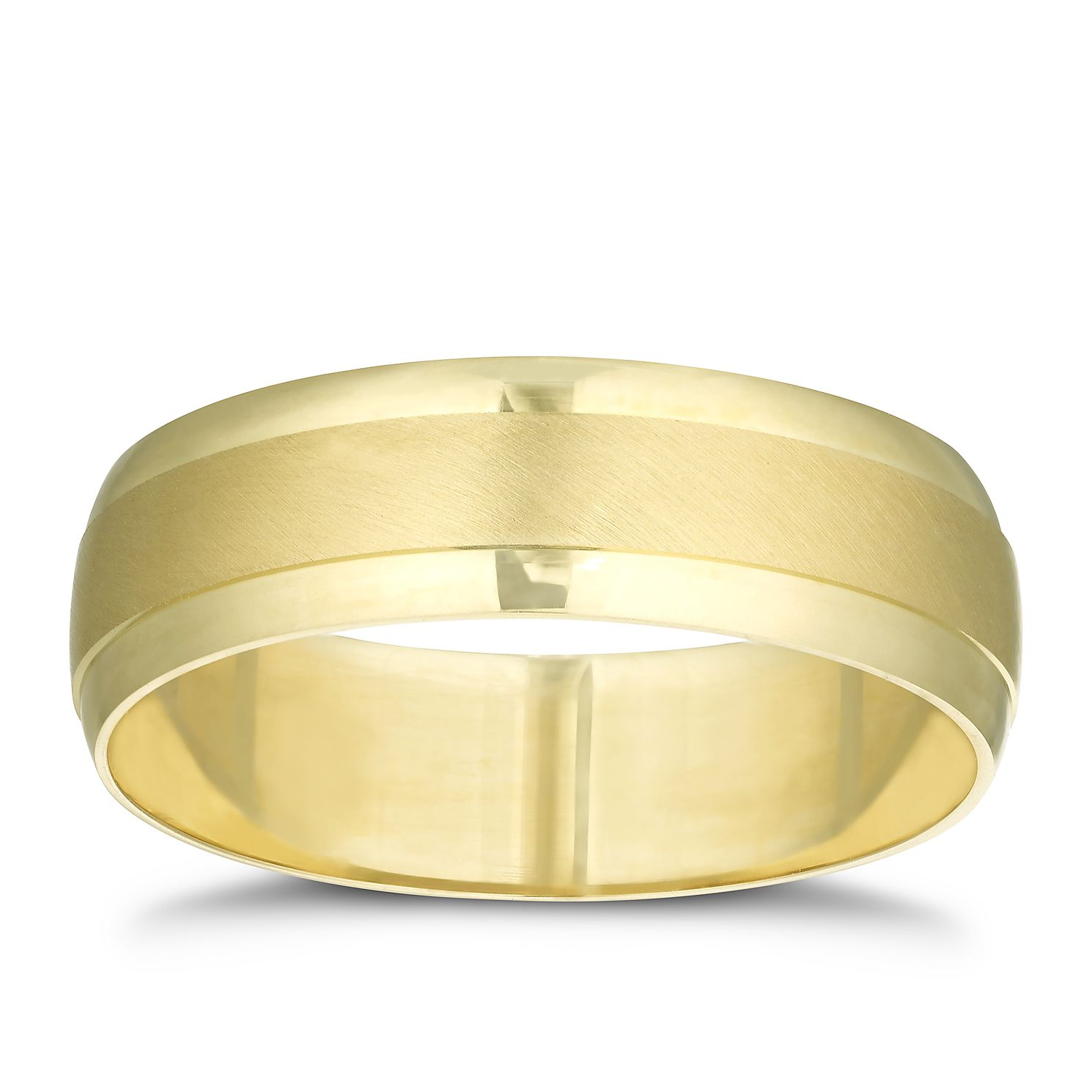 9ct Yellow Gold Brushed & Polished Ring - Product number 3214982
