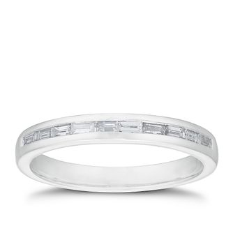 18ct White Gold 1/4ct Baguette Diamond Channel Set Band - Product number 3216942
