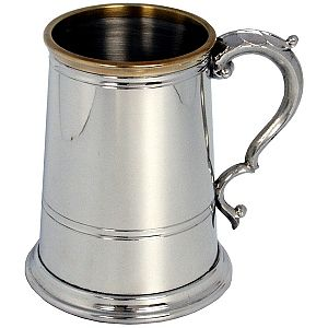 Classic Collection Brass Lipped Pewter Tankard - Product number 3217655
