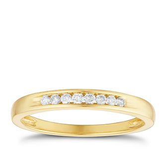 18ct Yellow Gold 1/10ct Diamond Channel Set Band - Product number 3220419