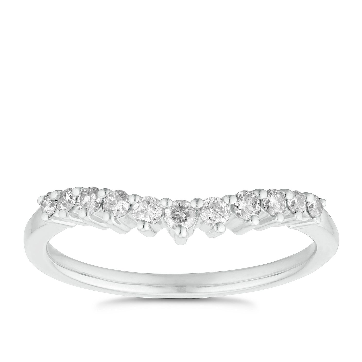 Platinum 1/4ct Diamond Shaped Band - Product number 3223523