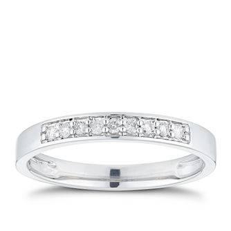 Platinum 1/10ct Diamond Straight Band - Product number 3224600