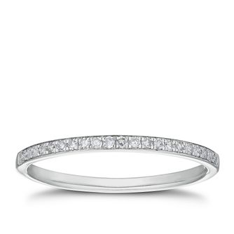 Palladium 1/10ct Diamond Straight Band - Product number 3227545