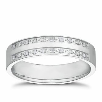 Silver 1/10 Diamond Double Row Band - Product number 3234614