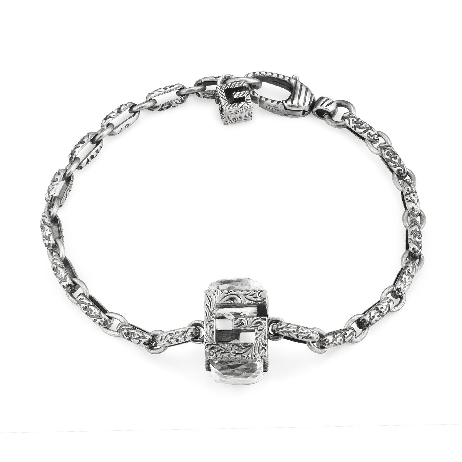 Gucci G-Cube Silver Synthetic Crystal Bracelet - Product number 3234770