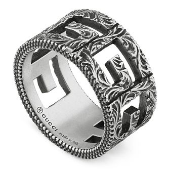 Gucci Men's Silver Square G Ring - Size 18 - Product number 3234843