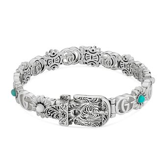 Gucci GG Marmont Silver Mother Of Pearl Set Stone Bracelet - Product number 3234878