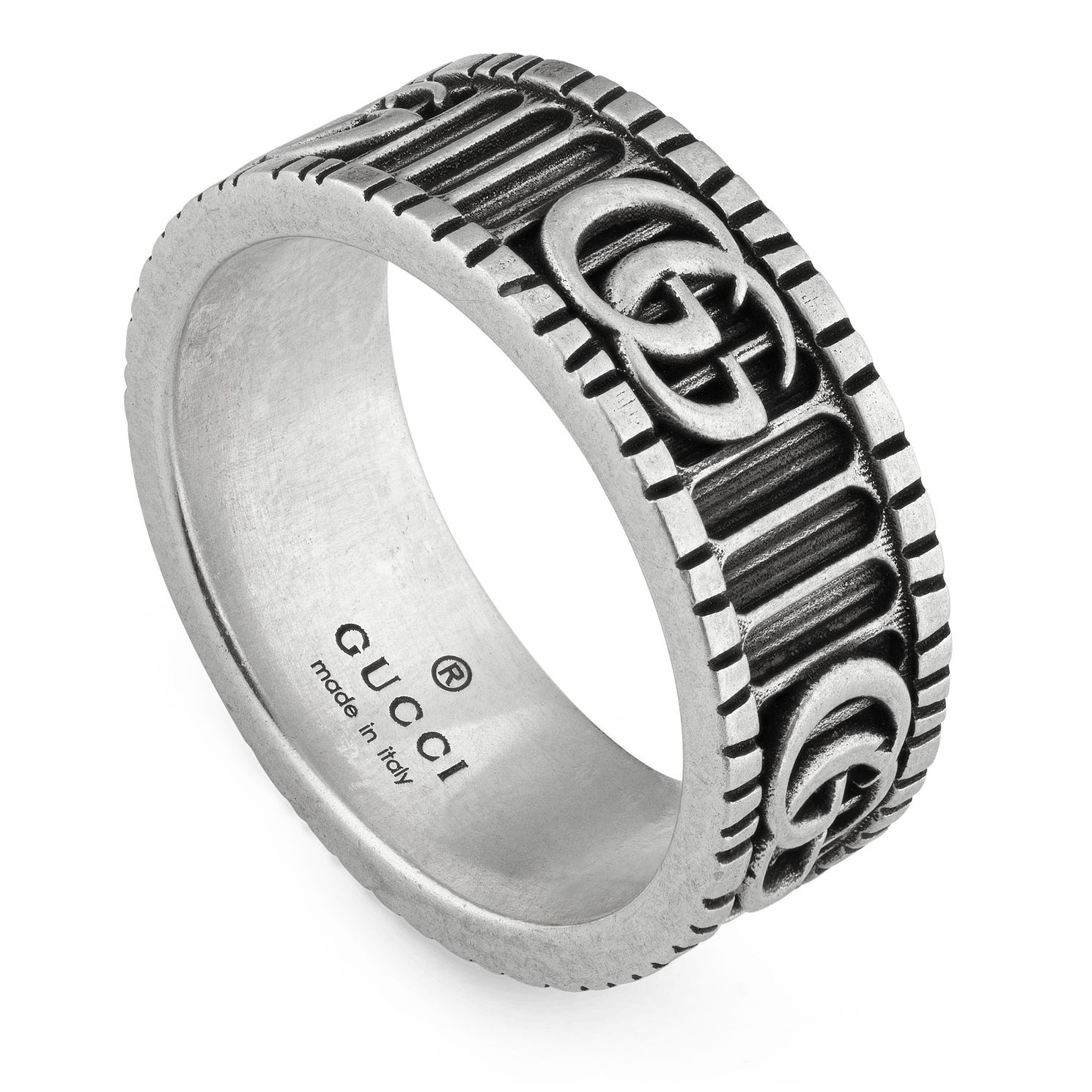 Gucci Men's Silver Marmont Ring - Size 19 - Product number 3234916