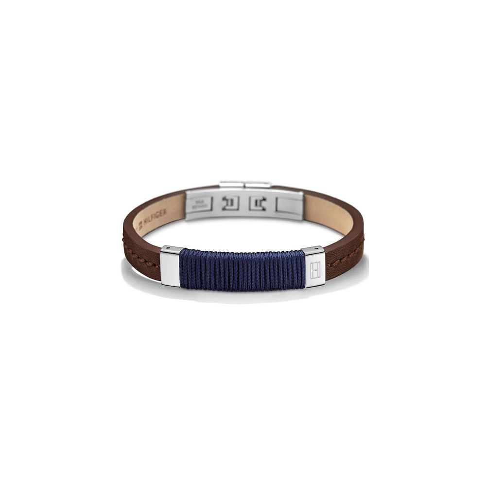 Tommy Hilfiger Men's Navy & Brown Leather Rope Bracelet - Product number 3234940