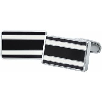 Tommy Hilfiger Men's Stainless Steel Black Flag Cufflinks - Product number 3234991