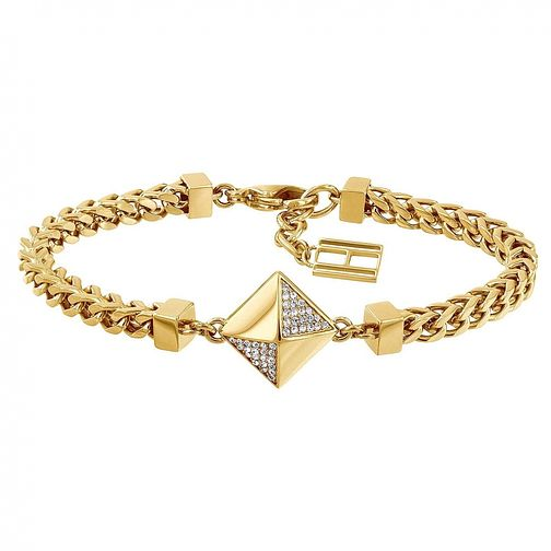 Tommy Hilfiger Ladies' Yellow Gold Plated Box Chain Bracelet - Product number 3235076