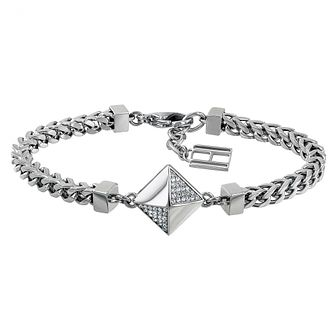 Tommy Hilfiger Ladies' Silver Tone Box Chain Bracelet - Product number 3235092