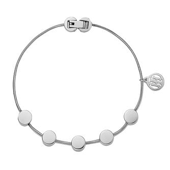 Tommy Hilfiger Ladies' Silver Tone Coin Bracelet - Product number 3235106