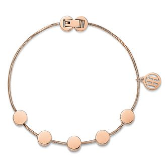 Tommy Hilfiger Ladies' Rose Gold Plated Coin Bracelet - Product number 3235122