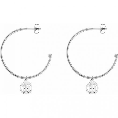 Tommy Hilfiger Ladies' Silver Tone Hoop Earrings - Product number 3235130