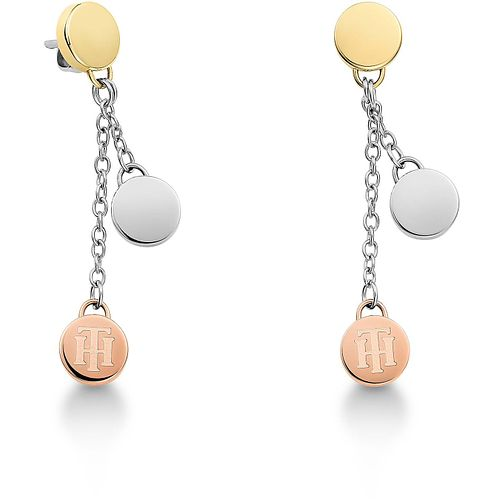 Tommy Hilfiger Ladies' Tri Colour Coin Drop Earrings - Product number 3235173