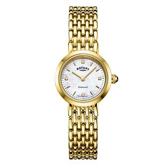 Rotary Balmoral Ladies' Yellow Gold Plated Bracelet Watch - Product number 3235238