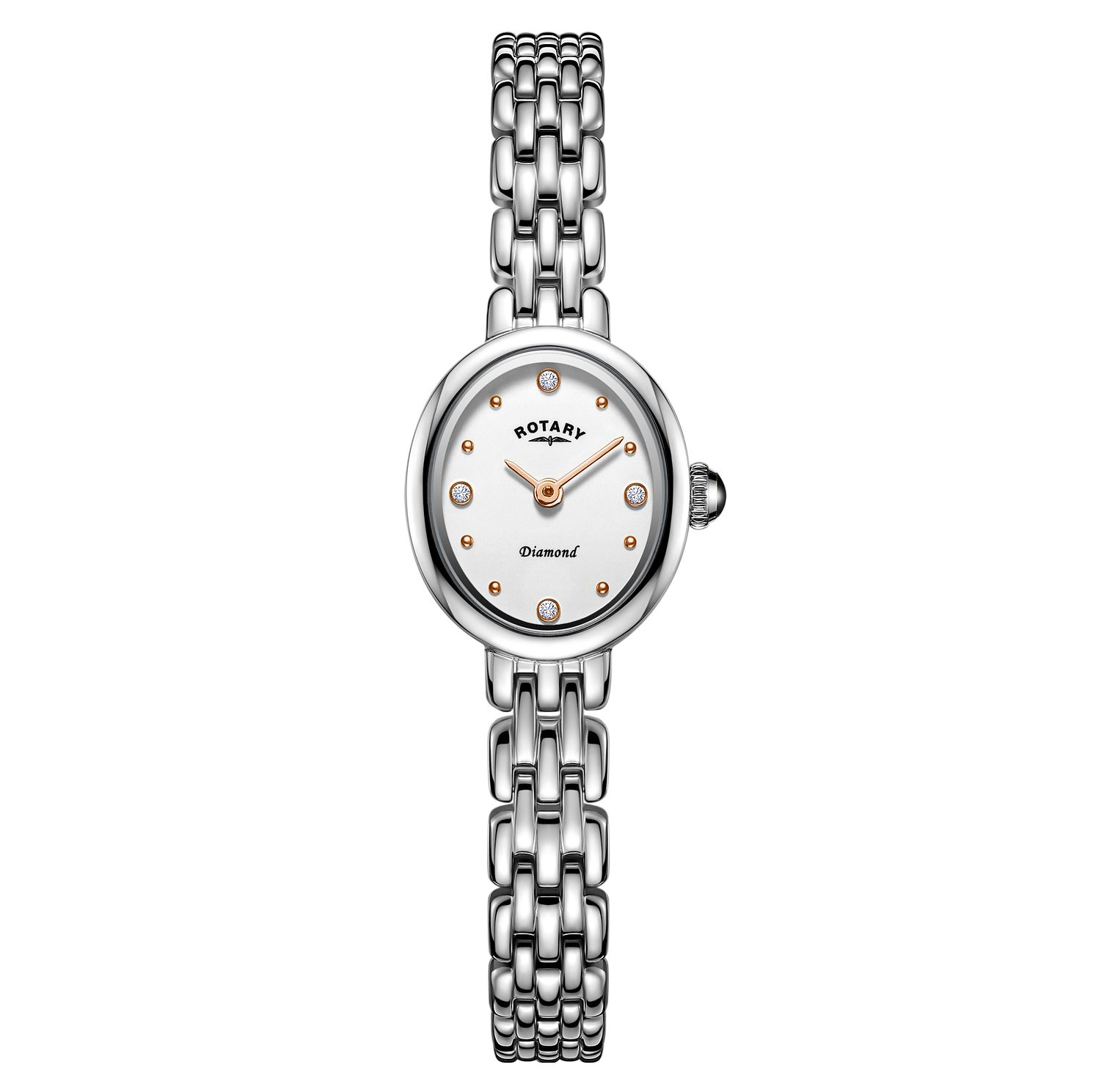 Rotary Balmoral Ladies' Oval Stainless Steel Bracelet Watch - Product number 3235246