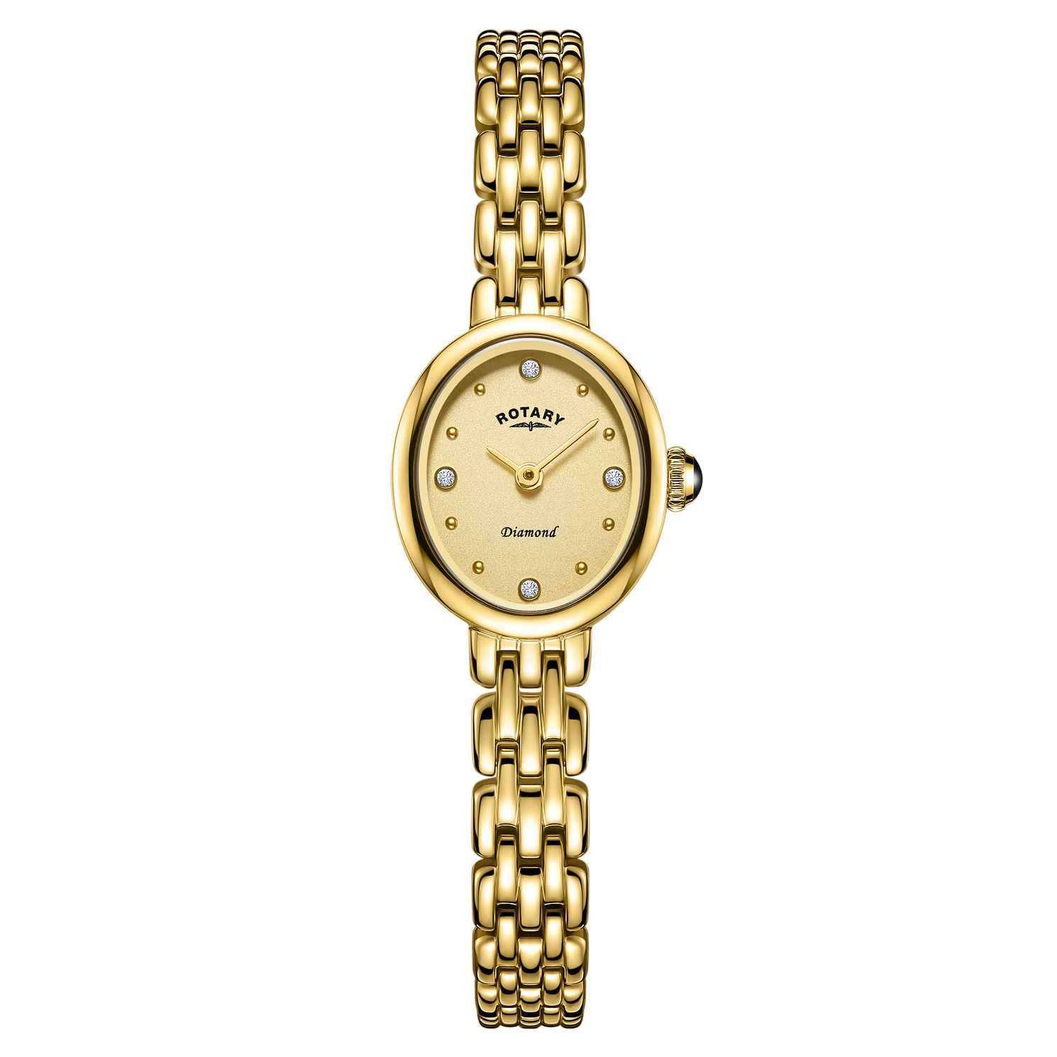 Rotary Balmoral Ladies' Oval Gold Plated Bracelet Watch - Product number 3235254