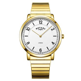 Rotary London Men's Gold Plated Bracelet Watch - Product number 3235270