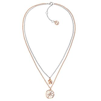 61755388abf0 Tommy Hilfiger Ladies  Rose Gold Plated Double Coin Necklace - Product  number 3235300