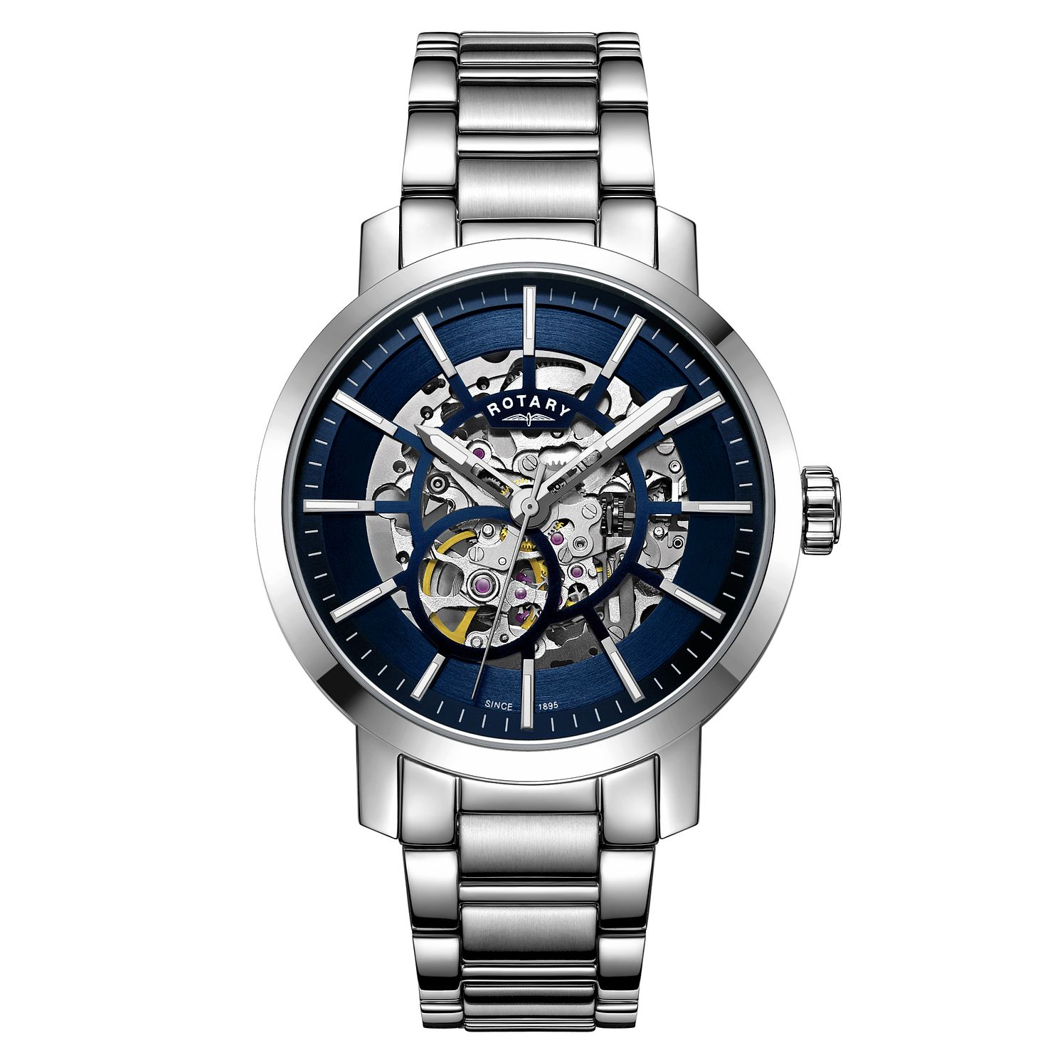 Rotary Greenwich Men's Stainless Steel Bracelet Watch - Product number 3235319