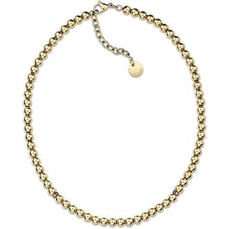 Tommy Hilfiger Ladies' Yellow Gold Plated Bead Necklace - Product number 3235327