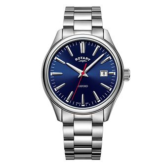 Rotary Oxford Men's Blue Dial Stainless Steel Bracelet Watch - Product number 3235343