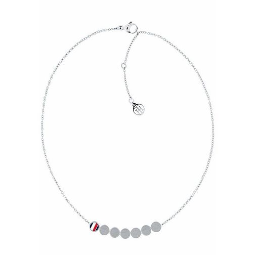 Tommy Hilfiger Ladies' Silver Tone Multi Coin Necklace - Product number 3235351